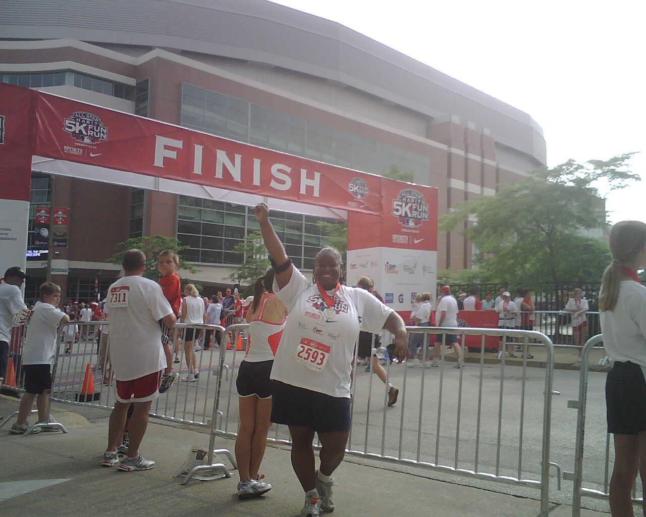 A Fierce Finish Line Pic