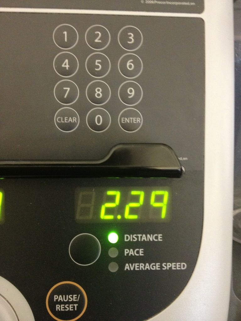 2.29 Miles on The treadmill