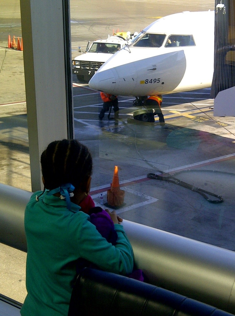 Niece at the airport